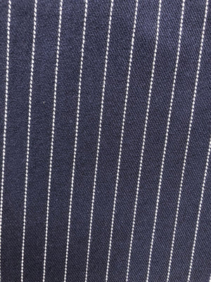 S&S High Rise Navy Pinstripe Pants With Zips
