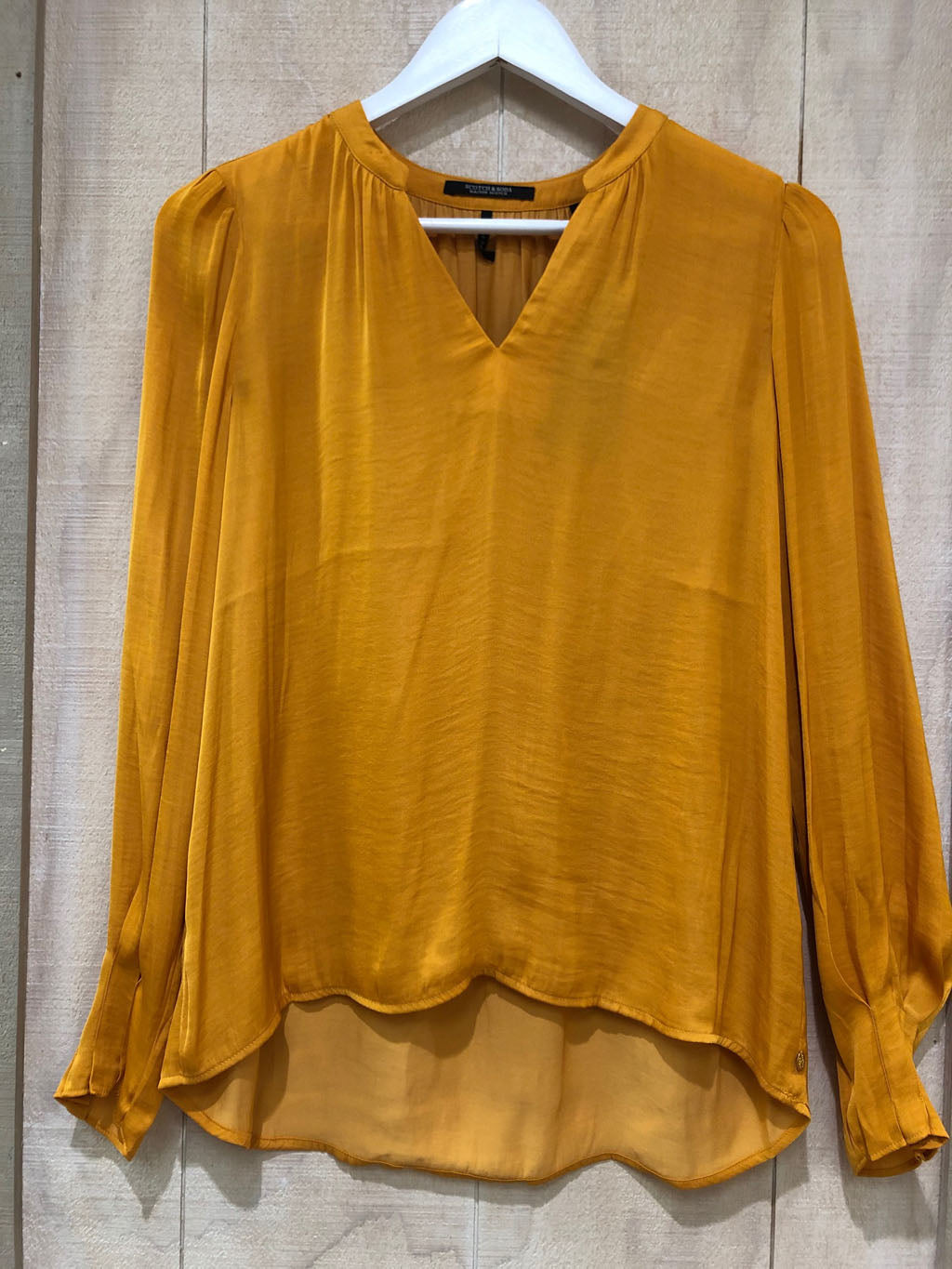 S&S V-Neck Top With Ruffle Detail