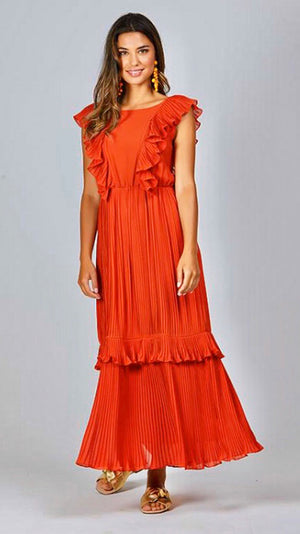 Augustine Sophie Dress - Burnt Orange