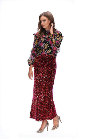Augustine Dance Maxi Sequin Skirt