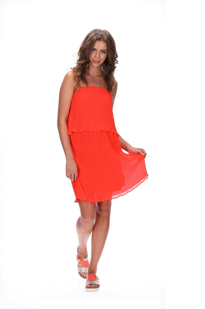Augustine Sassy Dress Orange