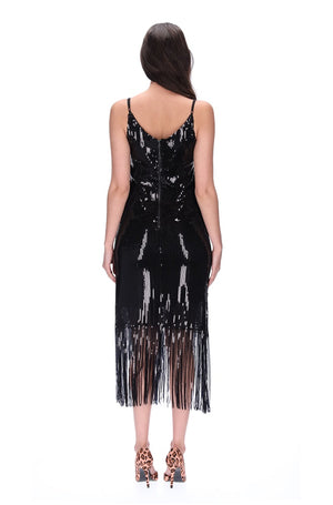 Augustine Life Dress Black Sequin