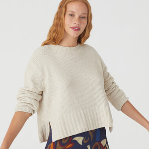 Nice Things Chenille Sweater Oatmeal