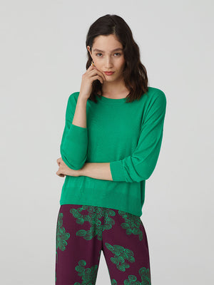 Nice Things Openwork Sweater - Cotton & Viscose