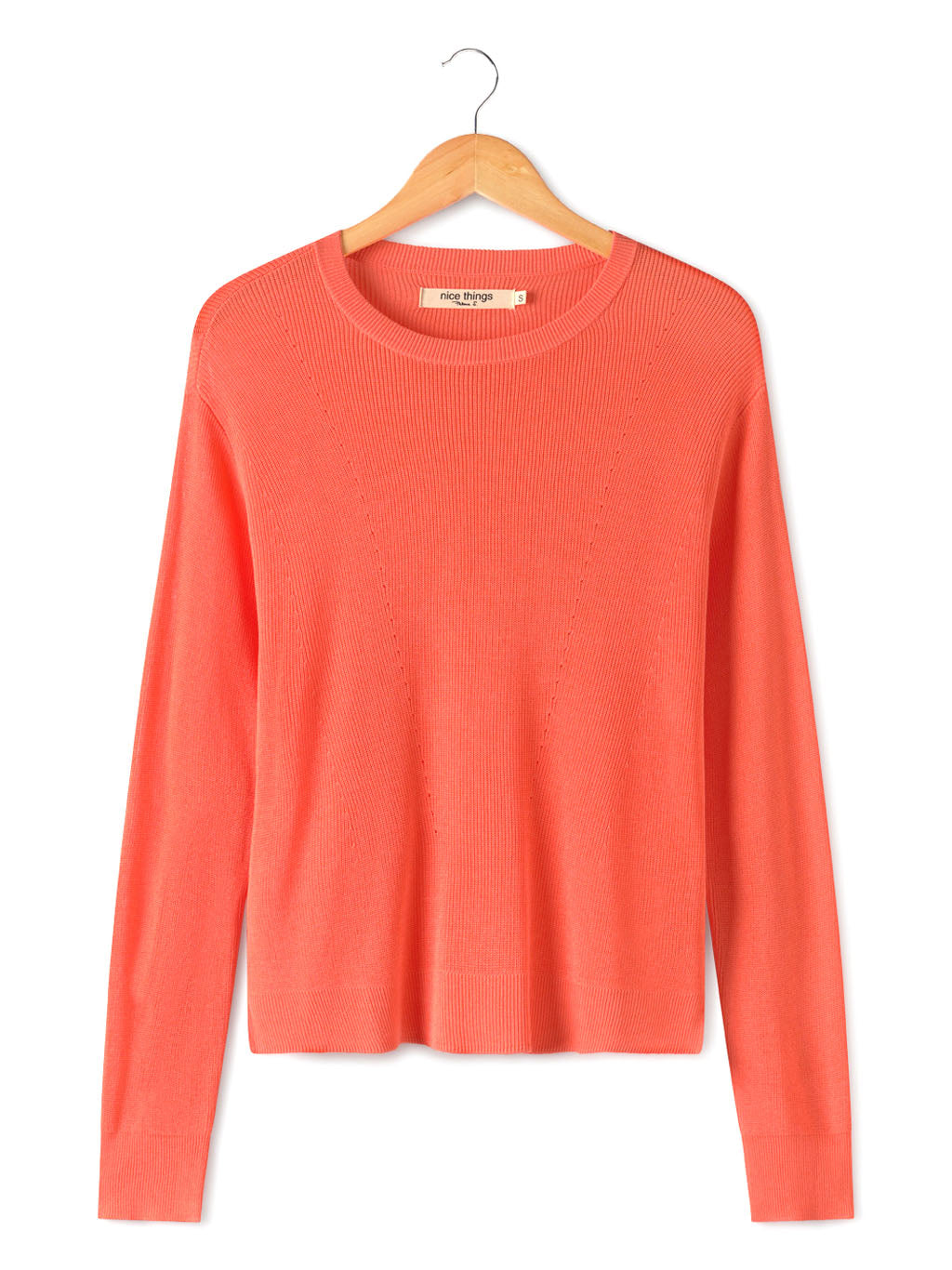 Nice Things Coral Sweater