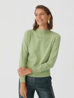 Nice Things Turtleneck Sweater Pale Green