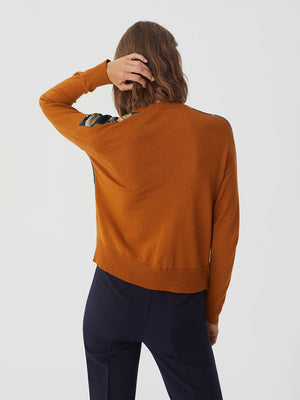 Nice Things Front Woven Sweater