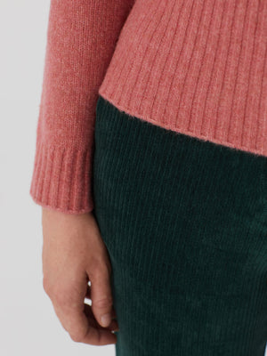 Nice Things Cable Sweater Pink Sweater