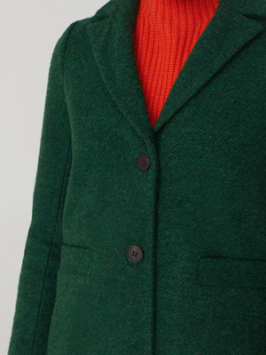 Nice Things Textured Coat Green