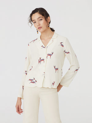 Nice Things Gazelle Print Shirt