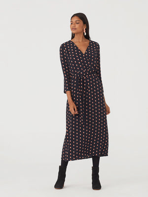 Nice Things Small Dot Long Crossover Dress