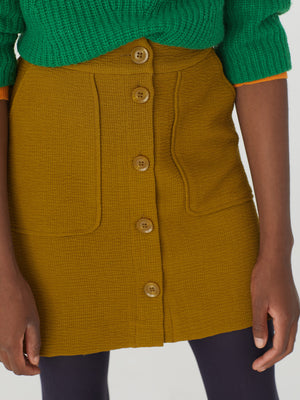 Nice Things Textured Button Mini Skirt