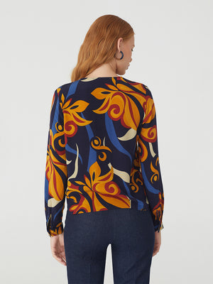 Nice Things 70s Print Button Top