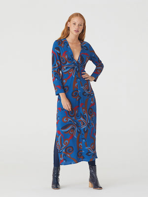 Nice Things 70s Print Long Dress
