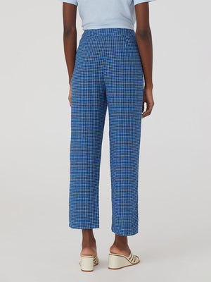 Nice Things Linen Blend Check Pants