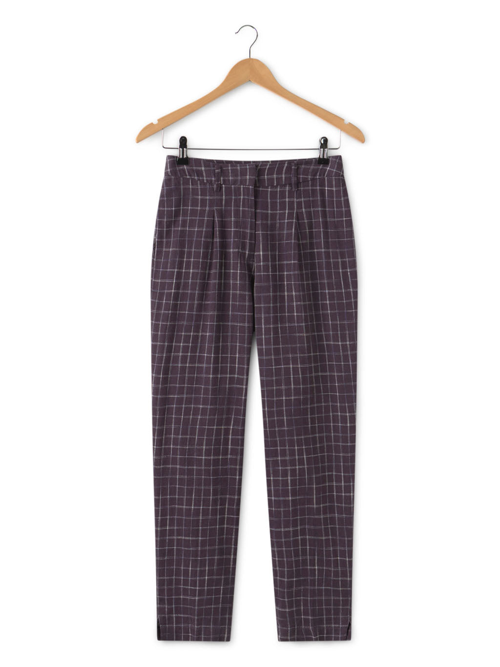 Nice Things Linen & Cotton Checked Pants