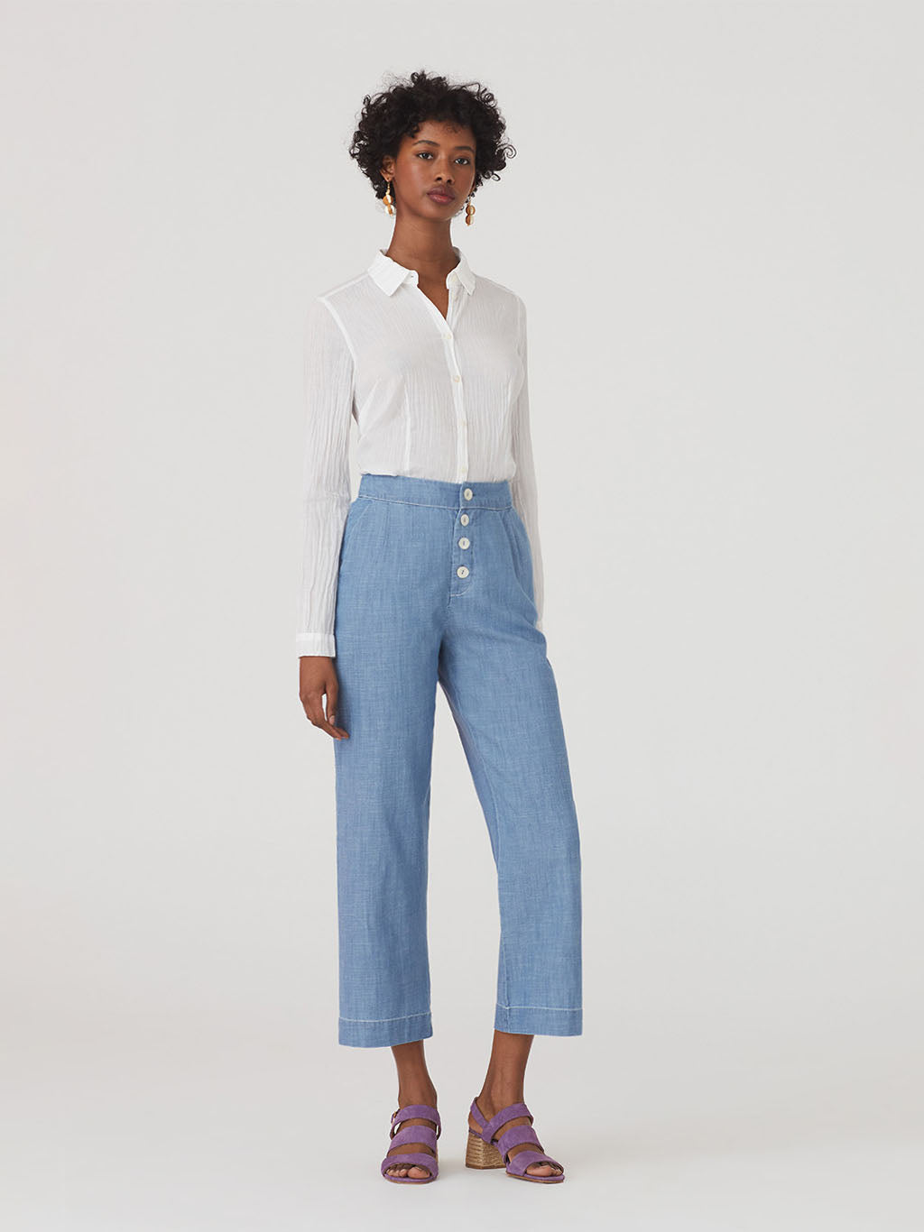 Nice Things Loose Denim Pants - 100% Cotton