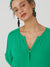 Nice Things Viscose Twill Seam Dress - Green
