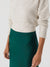 Nice Things Midi Skirt Forest Green