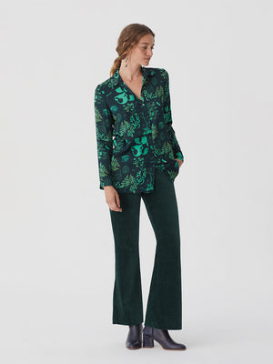 Nice Things Satin Shirt Willow Green