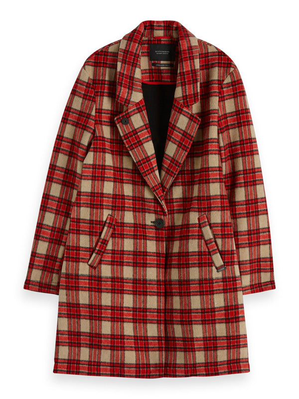 S&S Bonded Wool Checked Jacket