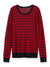 S&S Red Striped Pullover With Lurex