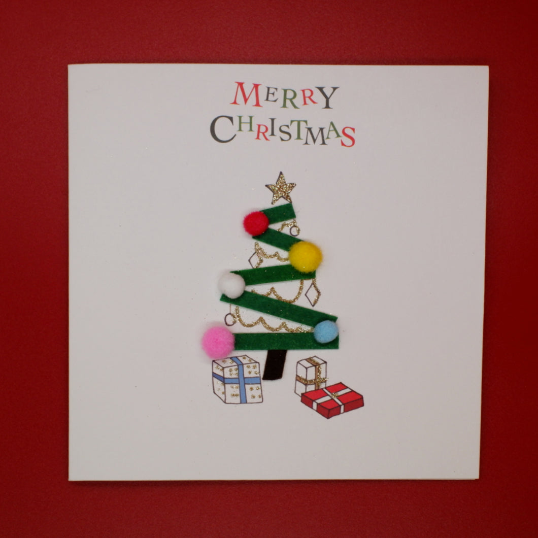 Christmas Card  - Christmas Tree with Bobbles