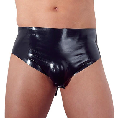 Latex Briefs with Anal Plug - The Lust Lab