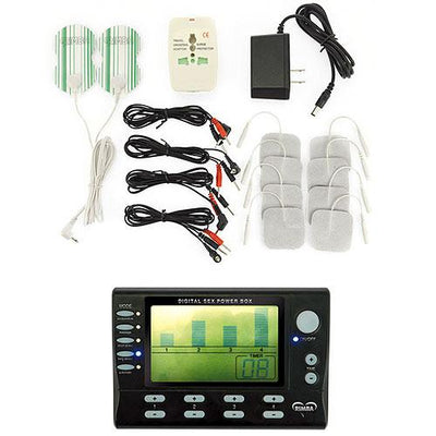 Electro Stimulation Power Box Set With LCD Display - The Lust Lab