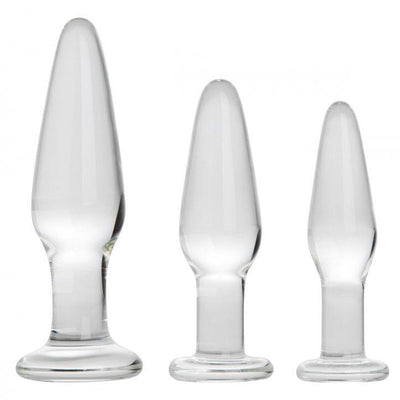 Dosha 3 Piece Glass Anal Plug Kit - The Lust Lab