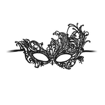 Ouch Royal Black Lace Mask - The Lust Lab