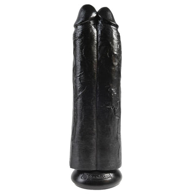 King Cock 11 Inch Two Cocks One Hole Hollow Strap-On - The Lust Lab