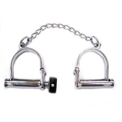 Stainless Steel Wrist Shackles - The Lust Lab