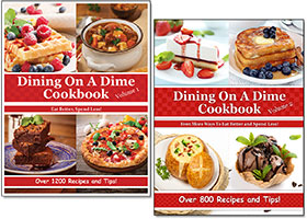 Check Out Our Dining On A Dime Cookbooks!