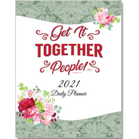 "2021 Daily Planner PRINT VERSION LARGE 8 1/2""x11"""