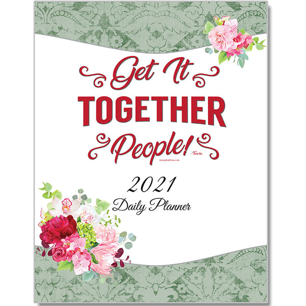 "2021 Daily Planner PRINT VERSION LARGE 8 1/2""x11"" **PRE-ORDER** (Ships Approx. 10/1)"