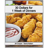 30 Dollars For 1 Week Of Dinners Meal Plan