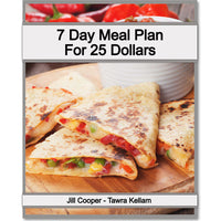 7 Day Meal Plan for $25