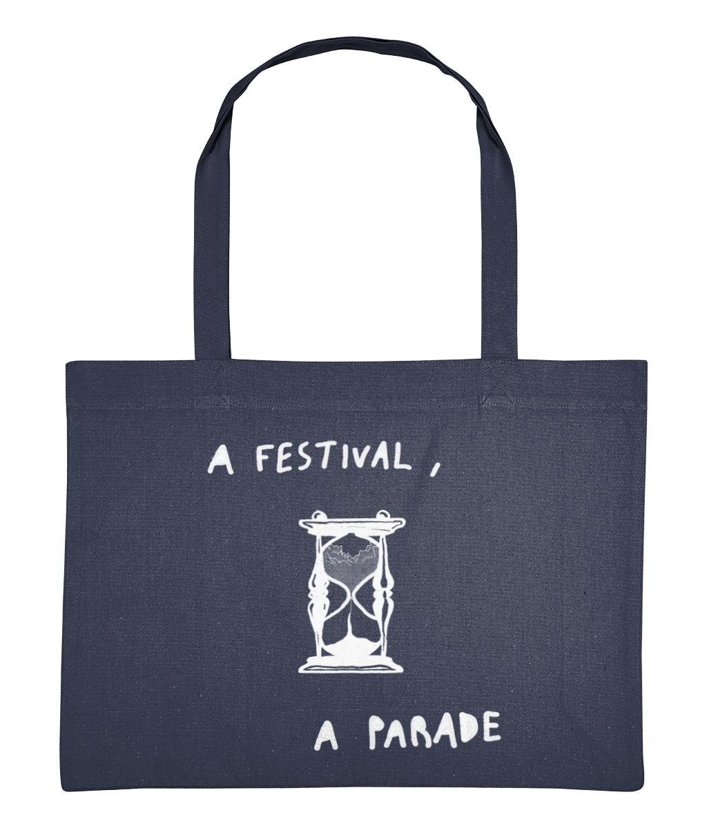 Timer Oversized Tote Bag - Midnight Blue