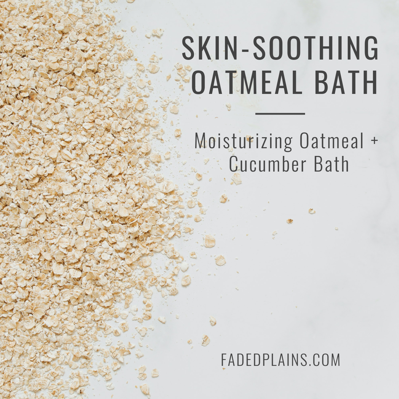 Skin-Soothing Oatmeal Bath