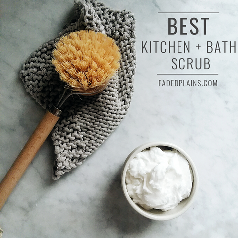 Best natural diy kitchen and bathroom scrub