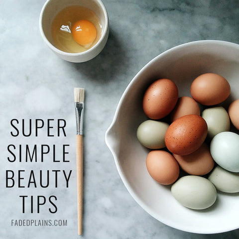 super simple beauty tips with natural eggs