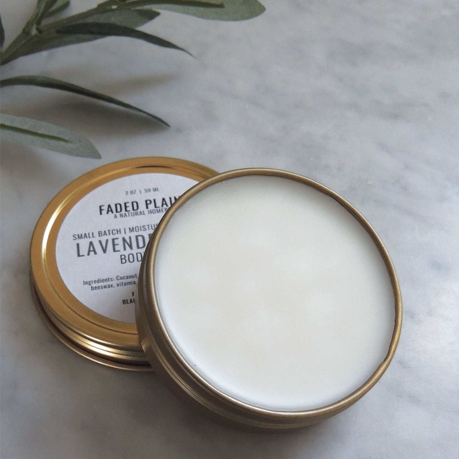 natural small batch lavender body balm made in nebraska