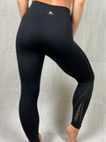 SEAMLESS LEGGINGS - SHREDDED BLACK