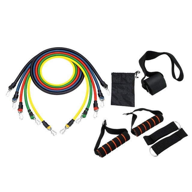11pcs Fitness Pull Rope Resistance Bands