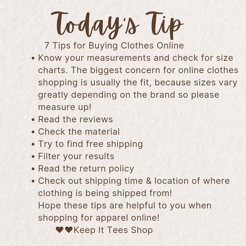7 Tips for Buying Clothes Online