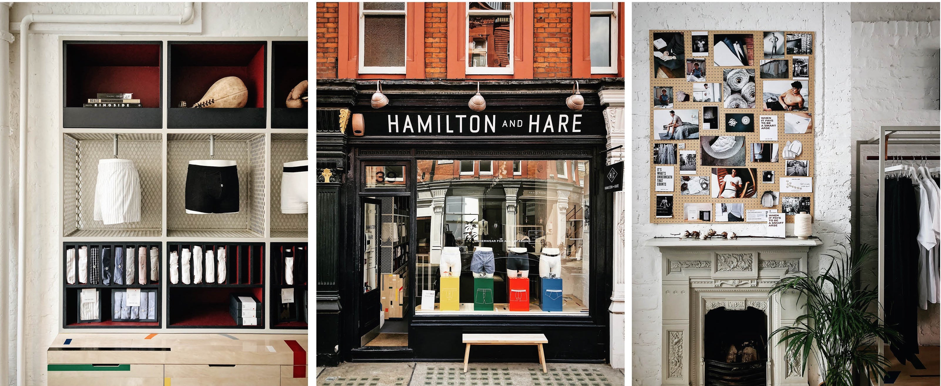 Hamilton and Hare mens underwear shop store chiltern street London