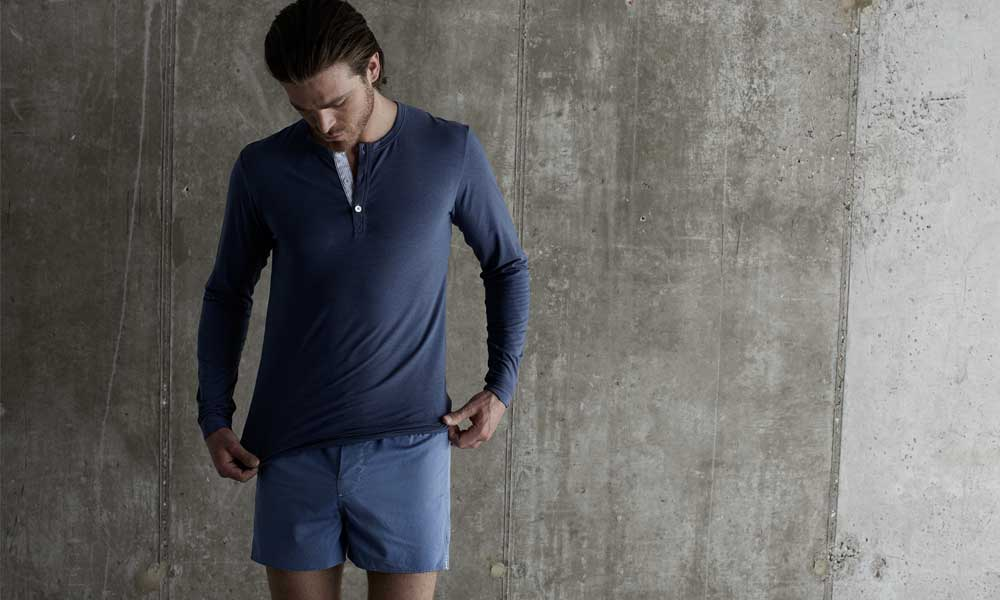 Sneek peek of Hamilton and Hare's SS15 men's underwear and loungewear collection