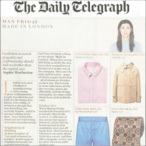 The Daily Telegraph feature Hamilton and Hare - Made in London