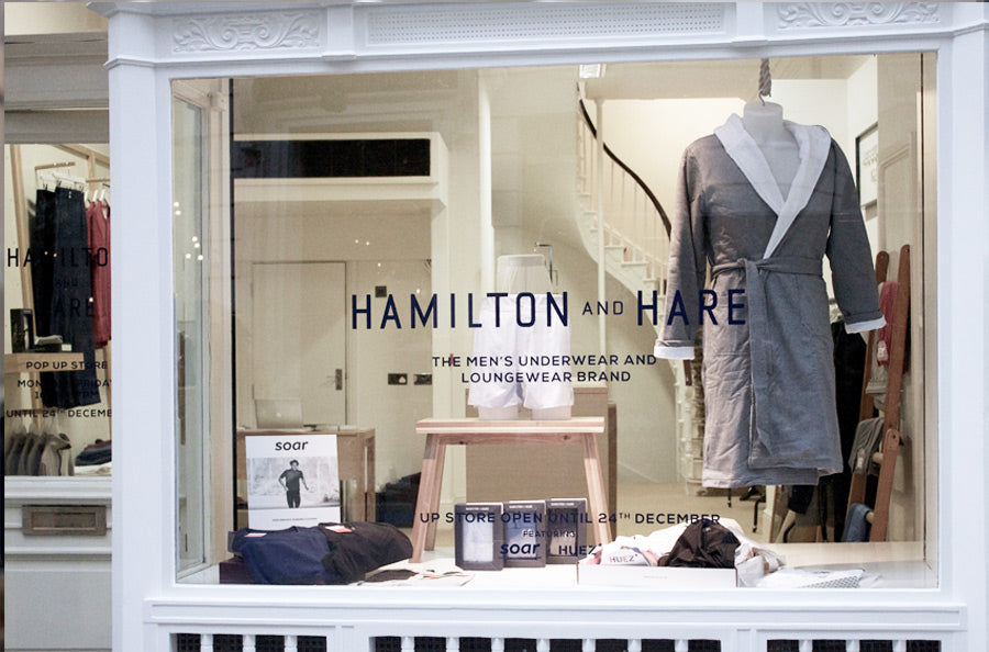Hamilton and Hare Christmas Pop-up store at The Royal Exchange, London.